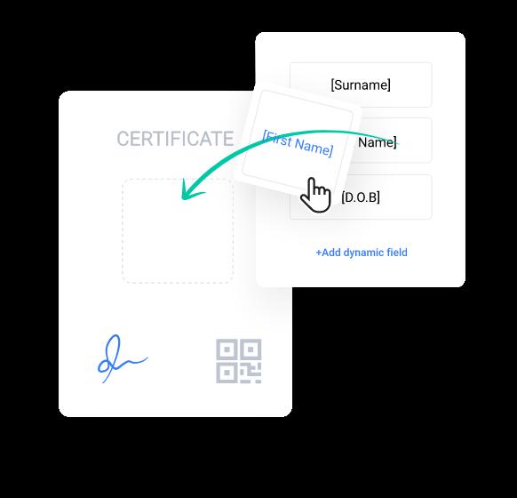 myCert - Add dynamic fields