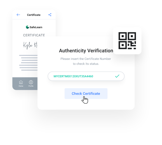myCert - Fast & secure verification process