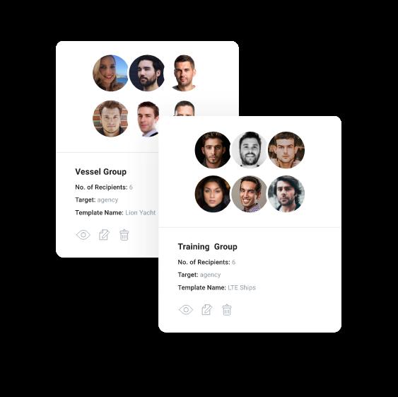 myCert - Group your recipients
