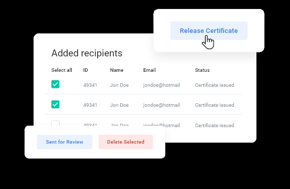myCert - Issue digital certificates