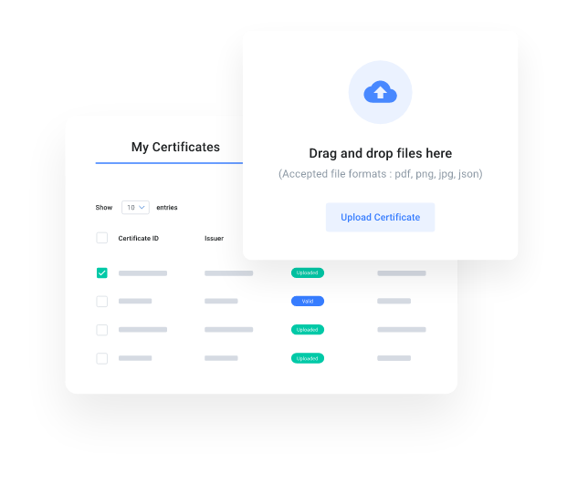 myCert - Receive, upload, and store your certificates in one single place