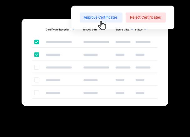 myCert - Set custom approval flows