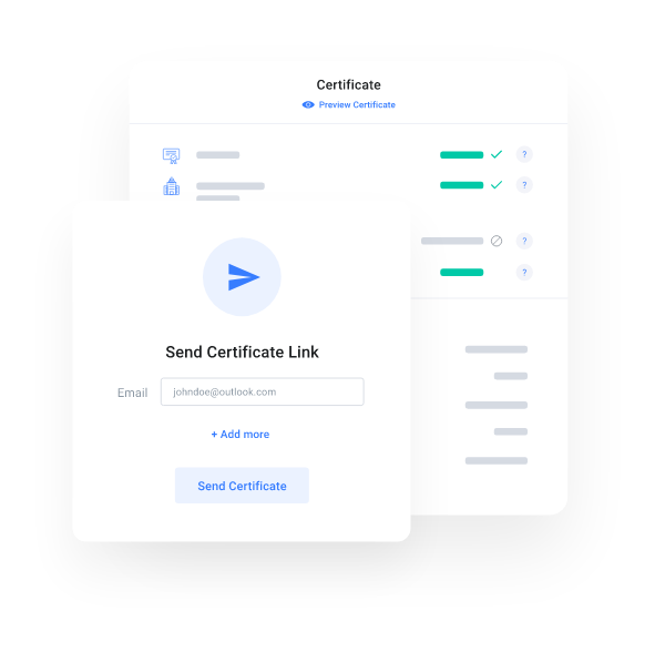 myCert - Share with ease, and allow for instant verification
